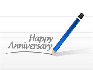 Happy anniversary written message
