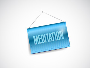 meditation hanging banner illustration
