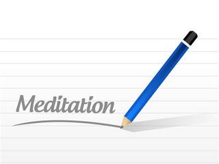 meditation message post illustration