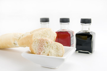 Assorted Bread Dipping Oils with Bread