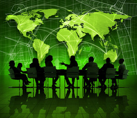 Global Business Meeting Economic Recovery Concept