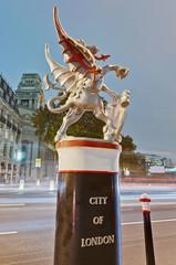 Silver dragon at London, England