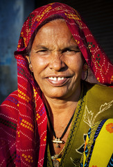 Indigenous Senior Woman Smilng At The Camera