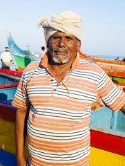 Indian Fisherman Kerela India Concept