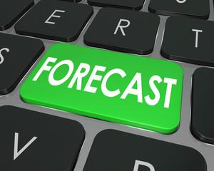 Forecast Word Computer Keyboard Button Future Finance Budget Est