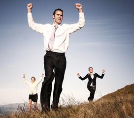 Mountain Business People Success Team Concept