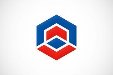 construction polygon logo