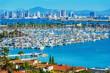 Leinwanddruck Bild - Panorama of San Diego