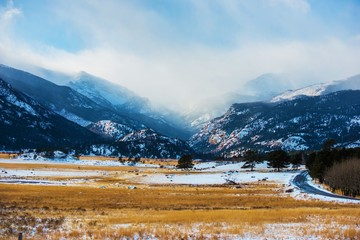 Mountains Winter Scenery