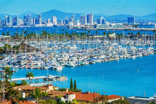 Leinwanddruck Bild Panorama of San Diego