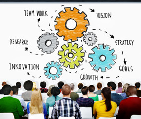 Teamwork Research Vision Strategy Growth Innovation Concept