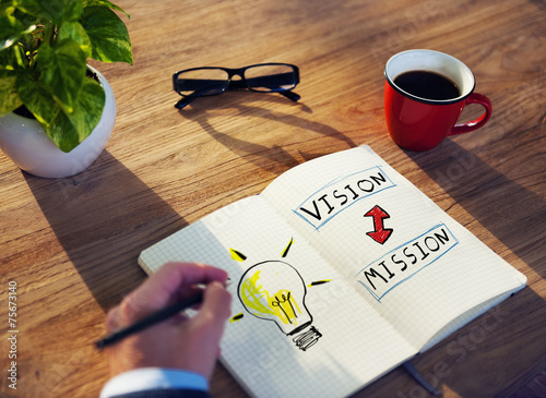 Businessman Motivation Vision Mission Ideas Creativity Concept - 75673140