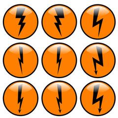 Lightning icon set.