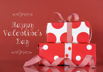 Happy Valentines Day gift with greeting
