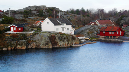 Holiday cottages on the coast
