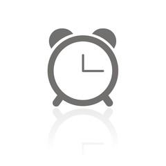 Icono reloj despertador FB reflejo