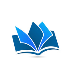Book logo vector icon