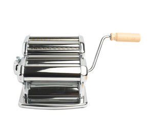 Metal pasta maker machine isolated