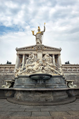 The Pallas-Athene Fountain in front of the Austrian Parliament