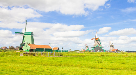 Landscape in The Netherlands with windmills