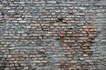 Vecchio muro di mattoni antica roma, wallpaper