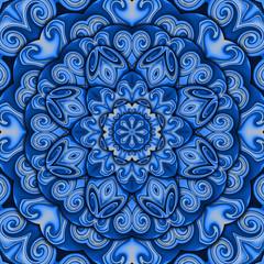 Blue success kaleidoscope