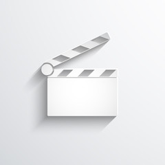 Vector clapperboard web icon