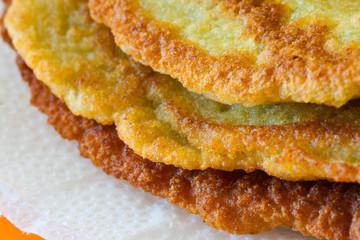The delicious homemade potato pancakes
