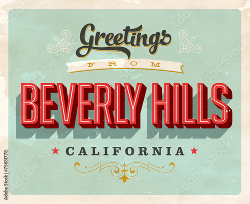 Retro Greetings from Beverly Hills
