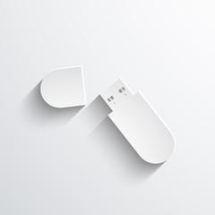 Vector usb flash drive web icon