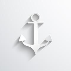 Vector anchor web icon