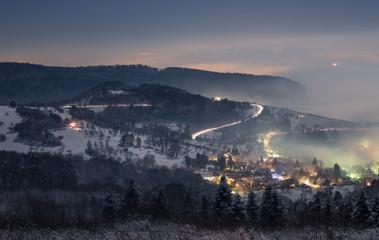 new year's eve fireworks near Freiburg, Germany