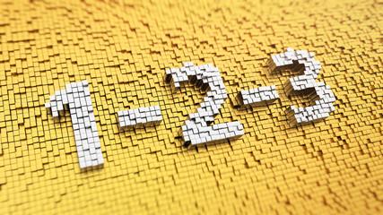 Pixelated 1-2-3