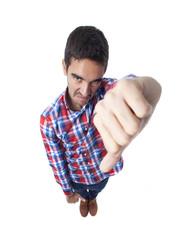 Angry man lose gesture