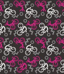 Black pink Seamless cycling pattern