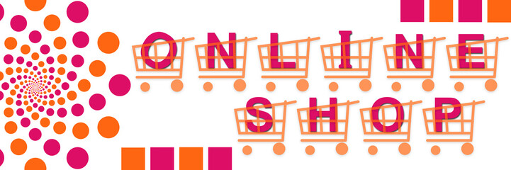 Online Shop Baskets Pink Orange