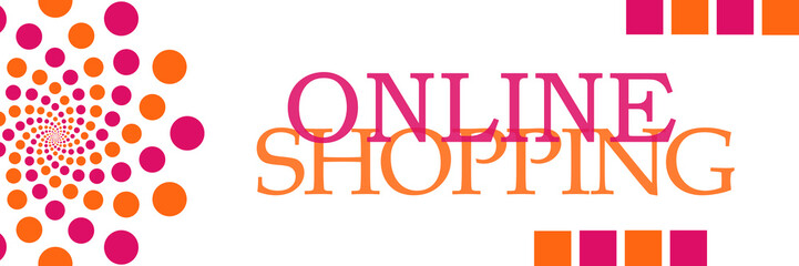 Online Shopping Pink Orange