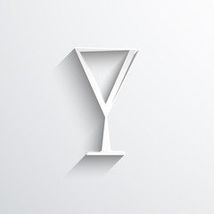 Vector wine glass web icon