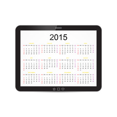Vector Calendar 2015 Tablet