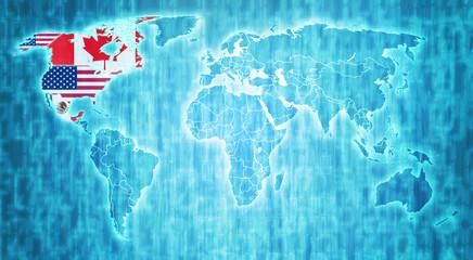 Nafta territory on world map