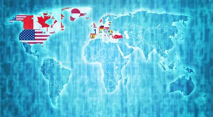 NATO territory on world map