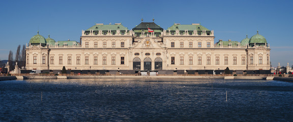 Belvedere palace and museum in Vienna