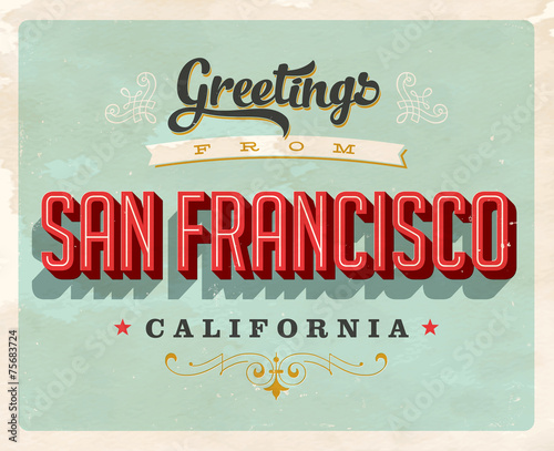 Retro Greetings from San Francisco, Frisco