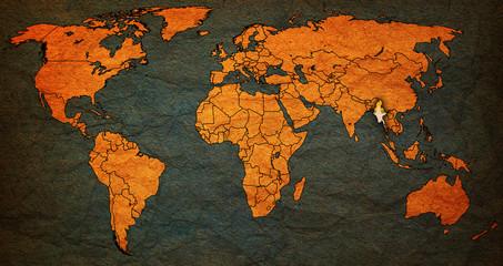 myanmar territory on world map