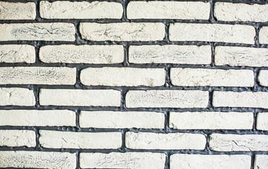 Brick wall design as mortar background texture