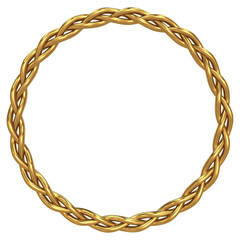 Gold braided circle