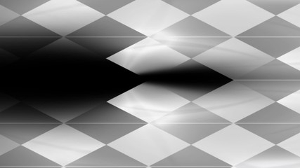 Abstract animated black and white background