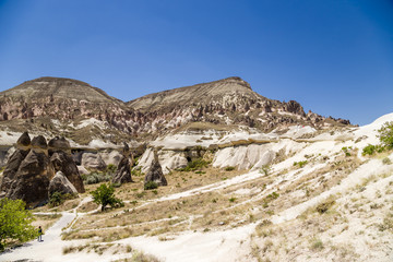 Cappadocia. Whimsical job of weathering the  Pashabag Valley
