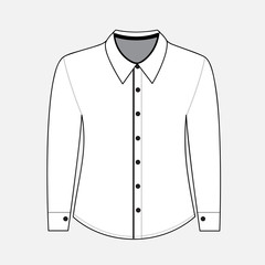 Shirt with long sleeves. vector illustration