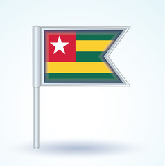 Flag set of Togo, vector illustration